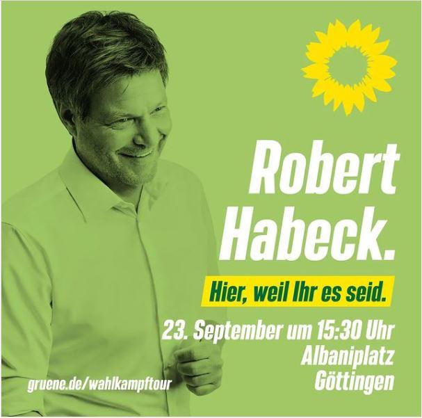 Robert Habeck kommt nach Göttingen